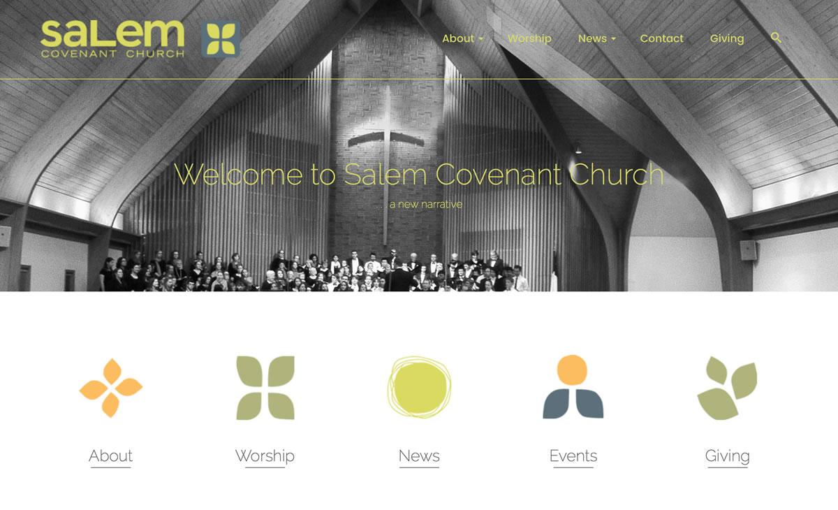 Salem Covenant WordPress Website Remodel 01 Landing