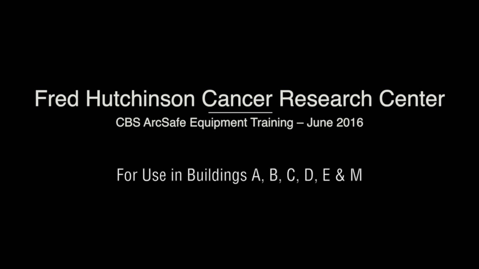 Fred Hutch Training Video